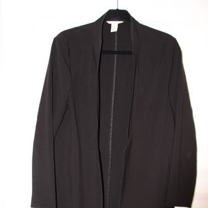 H&M long black jacket